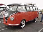 VW Samba Bus in Chestnut Brown over Sealing Wax Red