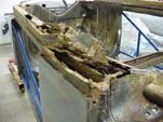 The underside of this 1954 VW Cabriolet is very rusty