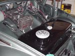1954 Volkswagen convertible gas tank has been restored and painted gloss black