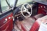Image of the original seats and interior in a 1954 Volkswagen Cabriolet