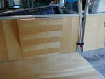 1961 Westfalia Camper; note package tray marquetry