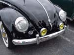 Cool Fog Lamps on a black Volkswagen Oval window bug