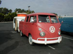 VW Type II Crew Cab Pickup Truck in factory L456 - Ruby Red