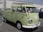 VW Type-2 Crew Cab Pickup in factory L349 Jade Green