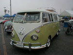 Vintage Volkswagen Microbus with deluxe trim added