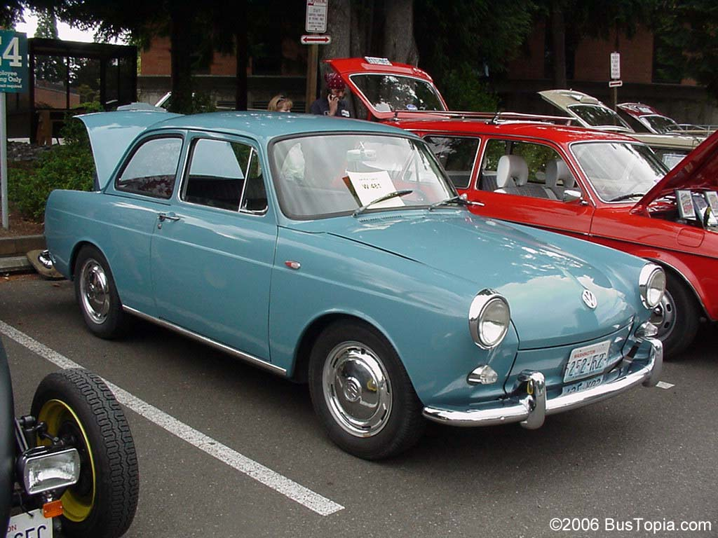 Volkswagen Type Iii Notchback Sedan In Light Blue Paint