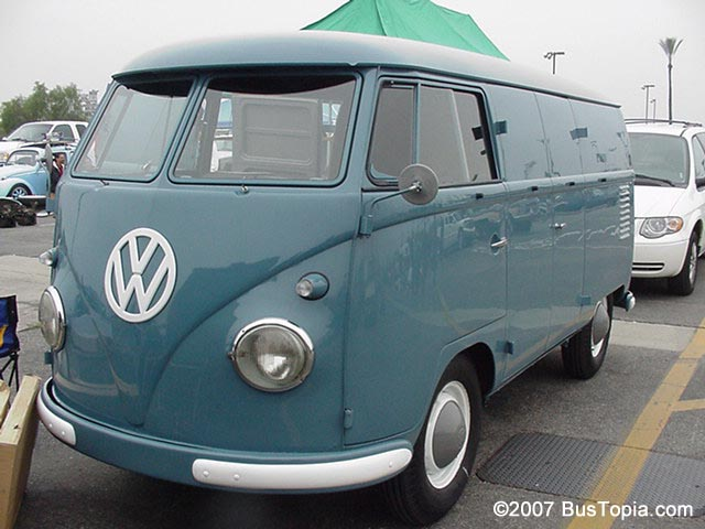 Vw Panel Van In Original L31 Dove Blue