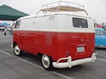 Vintage VW panel truck with roof rack