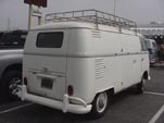 1963 VW panel van with a large roof rack