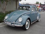 VW Bug in original paint color L390 - Gulf Blue