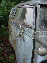 Original Volkswagen Bus Sitting at Forgotten VW Junk Yard
