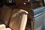 New upholstered seats in the restored 1954 Volkswagen convertible bug