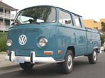 VW Bay Window Double Cab Pickup in original L50K - Neptune Blue