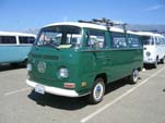 VW Type-2 Bay Window Bus in original L61B - Sumatra Green