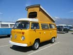 VW Bay Window Pop-Top Westfalia Camper in original L20A - Chrome Yellow