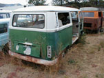 VW Boneyard in California has restorable VW T2 Bay Window Bus in the Yard
