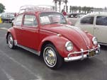 Volkswagen Bug in stock color L456 - Ruby Red