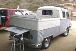 Split Window Volkswagen Double Cab Pickup With Vintage Aloha Surf Racks!