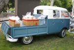 Split-Window VW Double Cab Pickup Truck With Accessory Tilt-out Rear Window