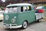 Very Sharp VW Split-Window Crew Cab Pickup Truck Painted Stock Velvet Green (#L-512) Color