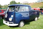 Split-Window VW Double Cab Pickup Painted Metallic Blue