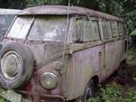 Volkswagen 23 Window Samba Bus Stored in Forgotten VW junkyard