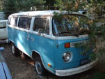 VW Storage Facility Has a Nice Volkswagen Bay Window Bus in Faded OG Blue Paint