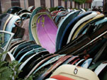 Piles of Original VW Beetle Engine Lids in Volkswagen junkyard