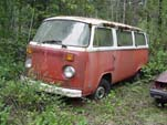 VW Junk Yard With Very Complete Volkswagen Bay Window T2 Bus