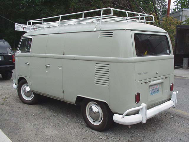 Restored VW Panel Van With Stock L87 Pearl White Paint Job