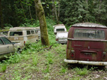 Volkswagen Wrecking Yard With VW Bay Window Transporters