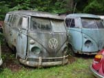 Volkswagen Wrecking Yard With VW Split Window Buses For Restoring